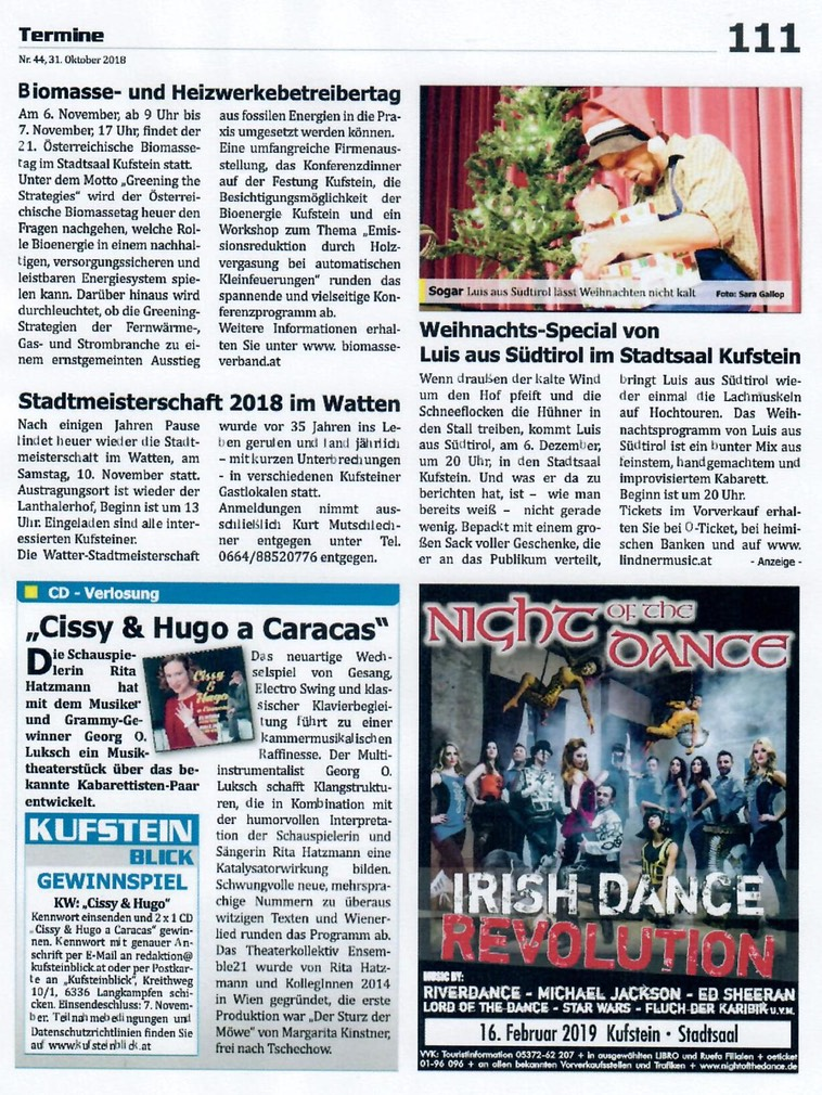 CISSY & HUGO in KUFSTEIN BLICK Review